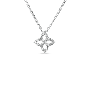 NECKLACE WITH SMALL DIAMOND PENDANT