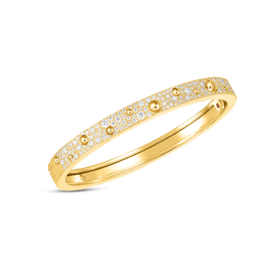 18K GOLD & PAVE DIAMOND POIS MOI LUNA BANGLE