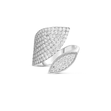 18K GOLD & DIAMOND PETALS WRAP RING