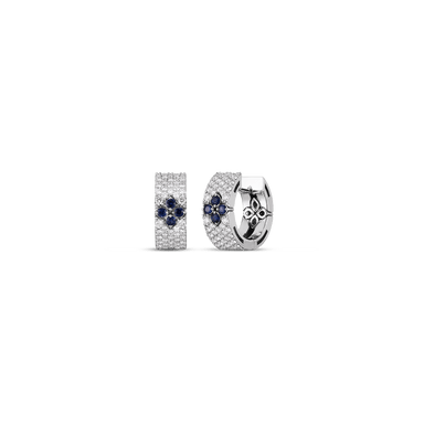 Diamond & Sapphire Love in Verona Earrings