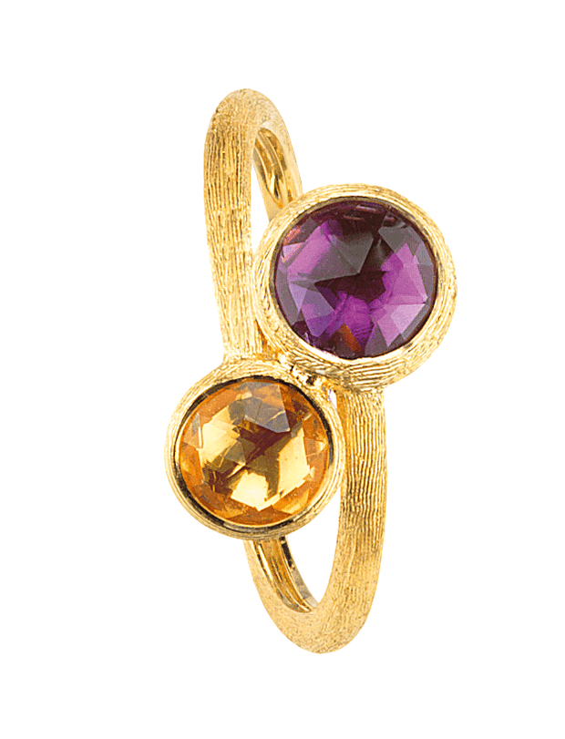 Jaipur overlapping ring in 18kt hand-engraved gold