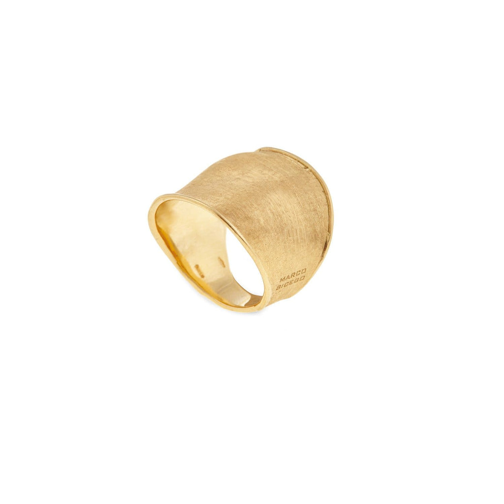Lunaria Gold Wide Ring