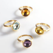 Jaipur Citrine Medium Stackable Ring