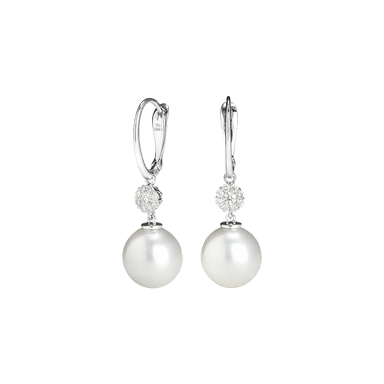 Timeless Pearl and Diamond Drop Earrings