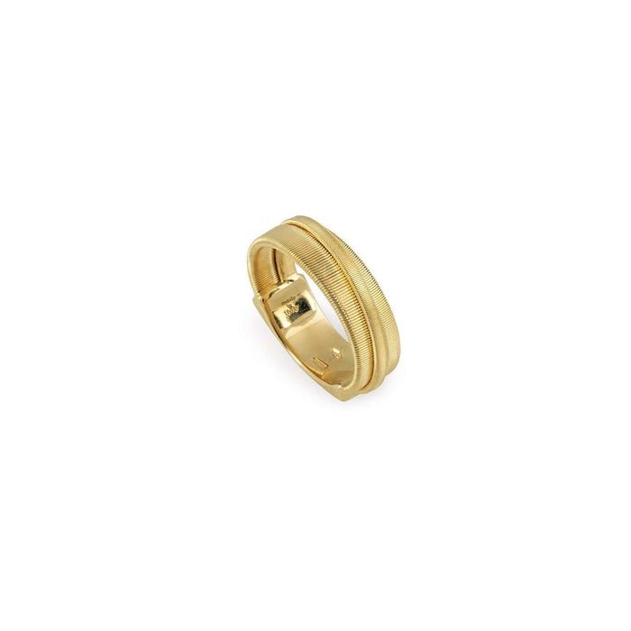 Masai Three Strand Crossover Ring in Yellow Gold