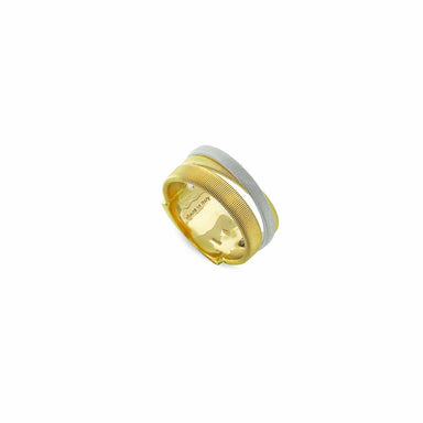 Masai Three Strand Yellow & White Gold Ring