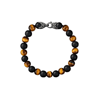 Tiger's Eye & Black Onyx Spiritual Beads Bracelet
