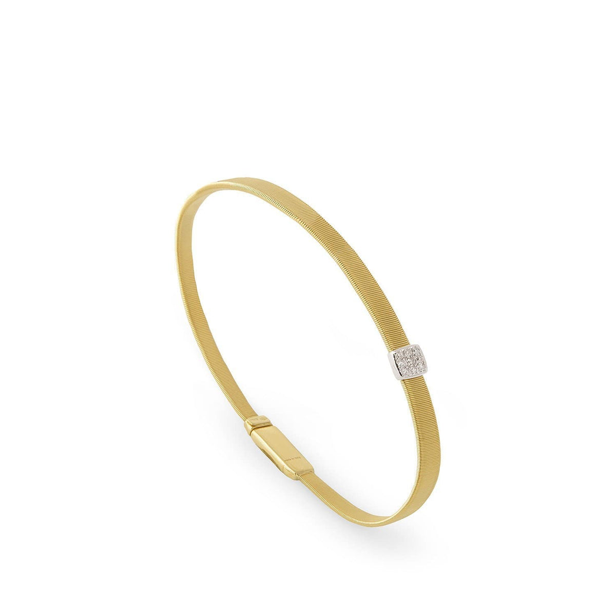 Masai Single Station Diamond Bracelet in Yellow Gold