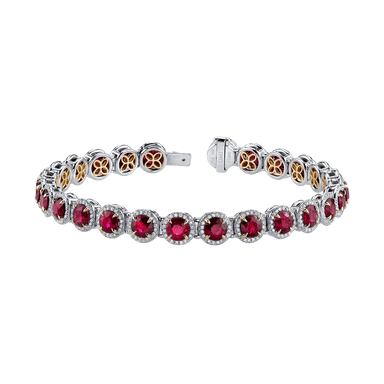 Ruby and Diamond Dore Bracelet