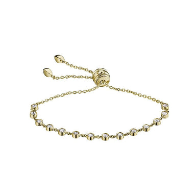 18K Yellow Gold Diamond Adjustable Bracelet