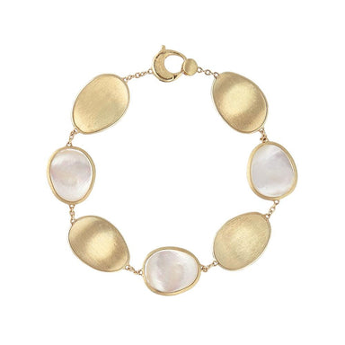 18K Yellow Gold & Mother of Pearl Bracelet