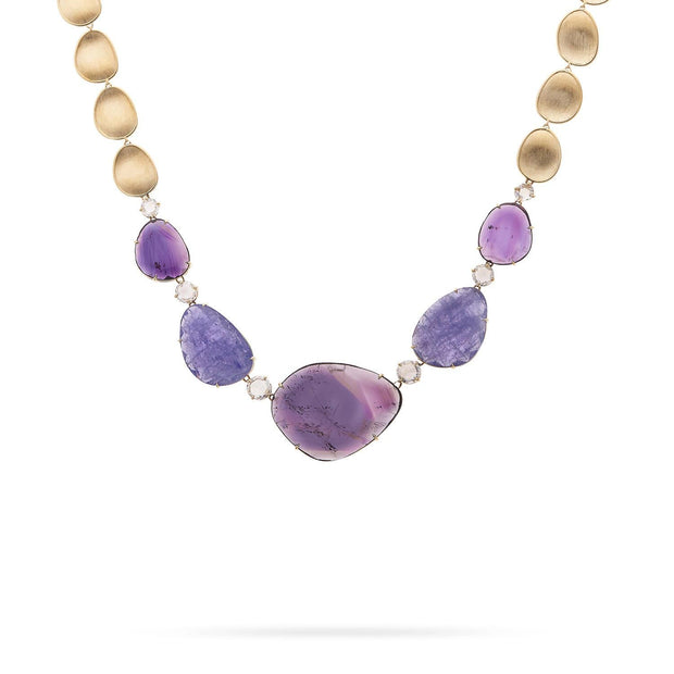 Unico Amethyst, Tanzanite, & Diamond Collar Necklace