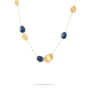 Lunaria Gold & Lapis Short Chain Necklace