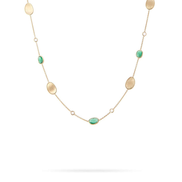 Unico Emerald & Diamond Short Necklace