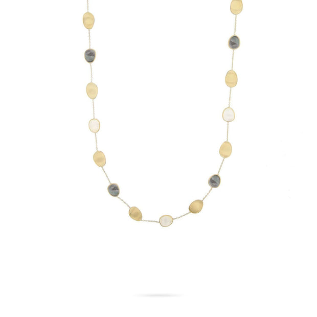 Lunaria Black & White Mother of Pearl Short Necklace