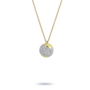 Tennis Gold and Diamond Pave Necklace