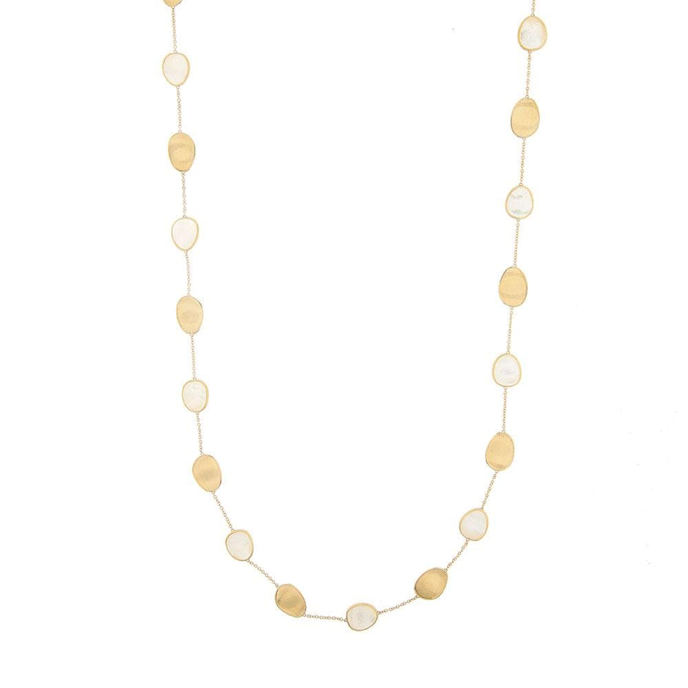 White Mother-of-Pearl Long Necklace