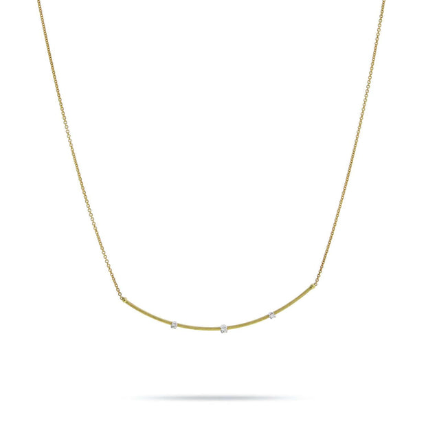 Luce Yellow Gold & Diamond Necklace