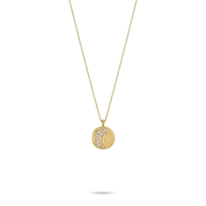 976181cf3ecc9e 18K Yellow Gold and Diamond Large Pendent Necklace|Africa|CB2259 B2 ...