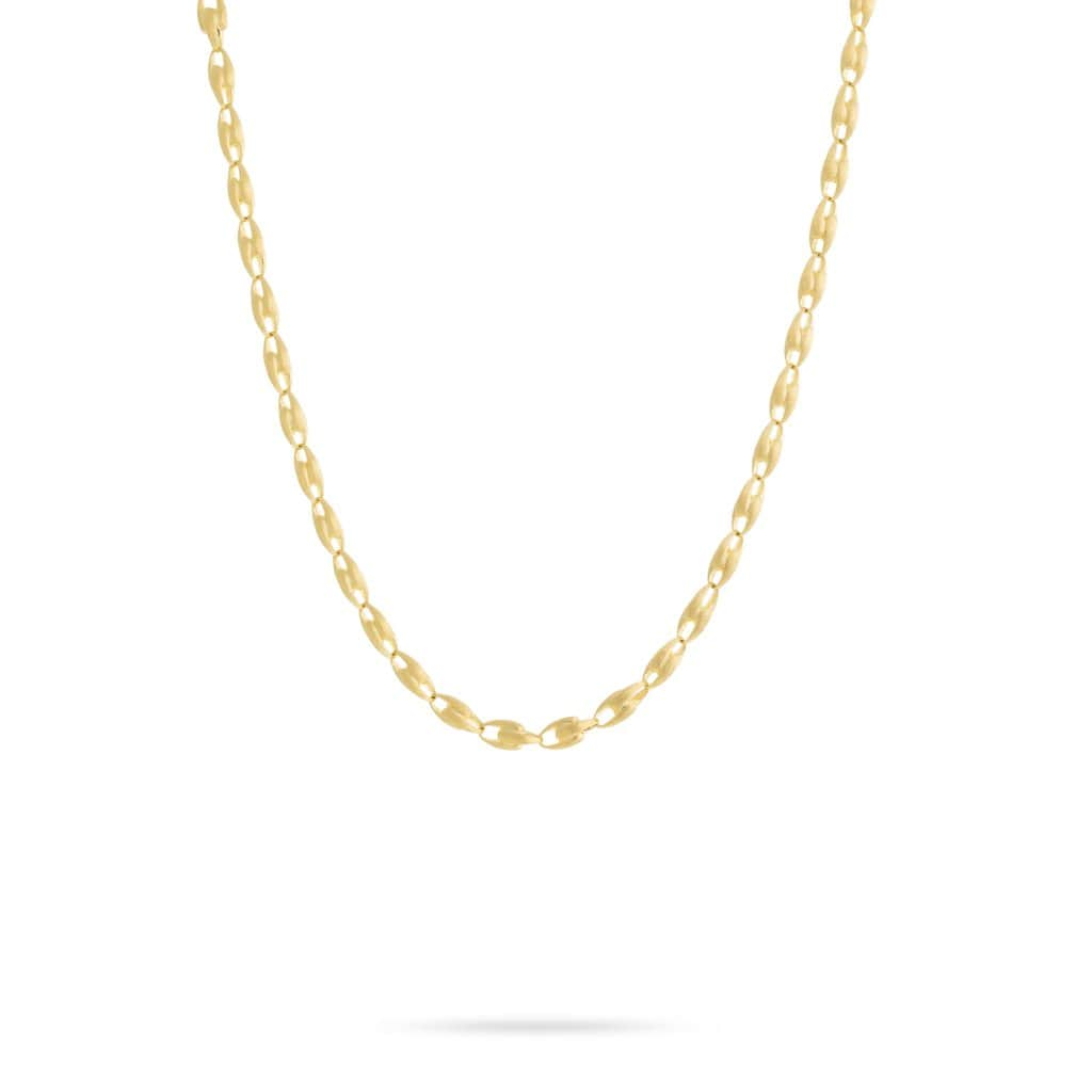 18K Yellow Gold Small Link Chain Necklace