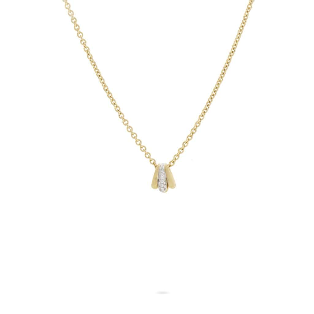 18K Yellow Gold Link Pendant