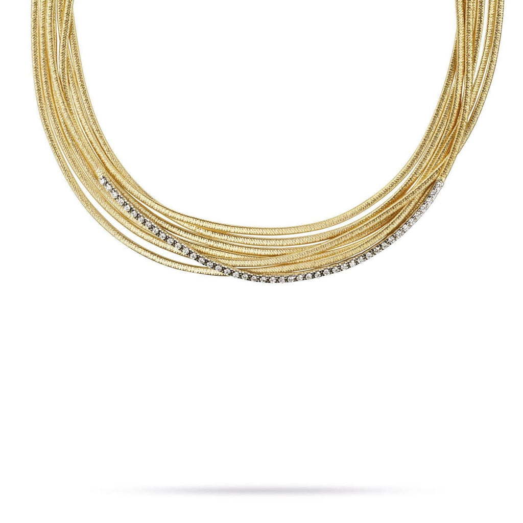 Cairo Gold & 0.9 ct Diamond Seven Strand Woven Necklace