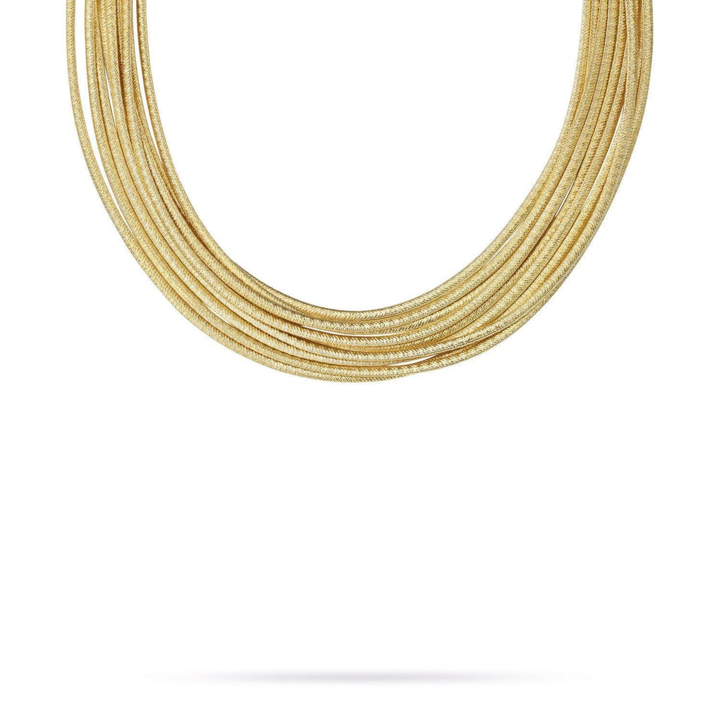 18K Gold Nine Strand Necklace