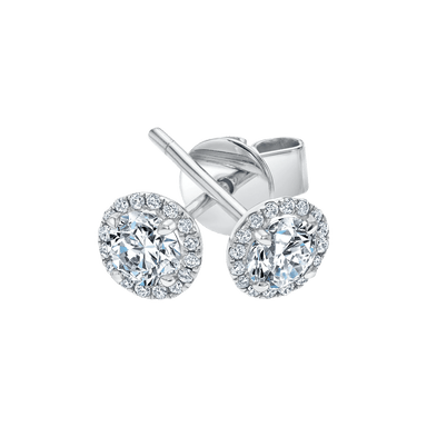 Diamond Center of My Universe Halo Earrings