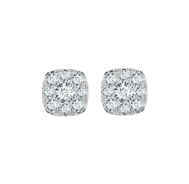 Diamond Halo Eternal Earrings