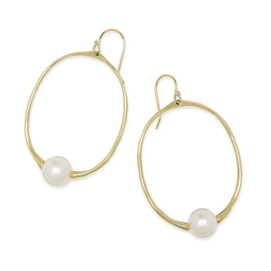 Nova Pearl Small Round Drop Earring
