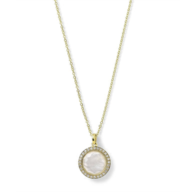 Mop Doublet & Diamond Mini Lollipop Pendant