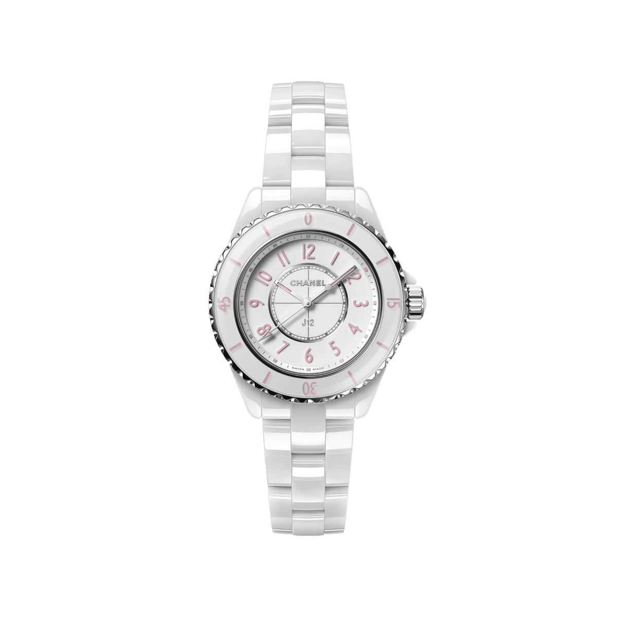 Limited Edition White Ceramic J12 Pink Blush Watch