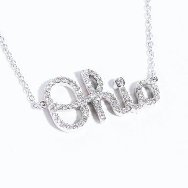 Mini Script Ohio Diamond Necklace