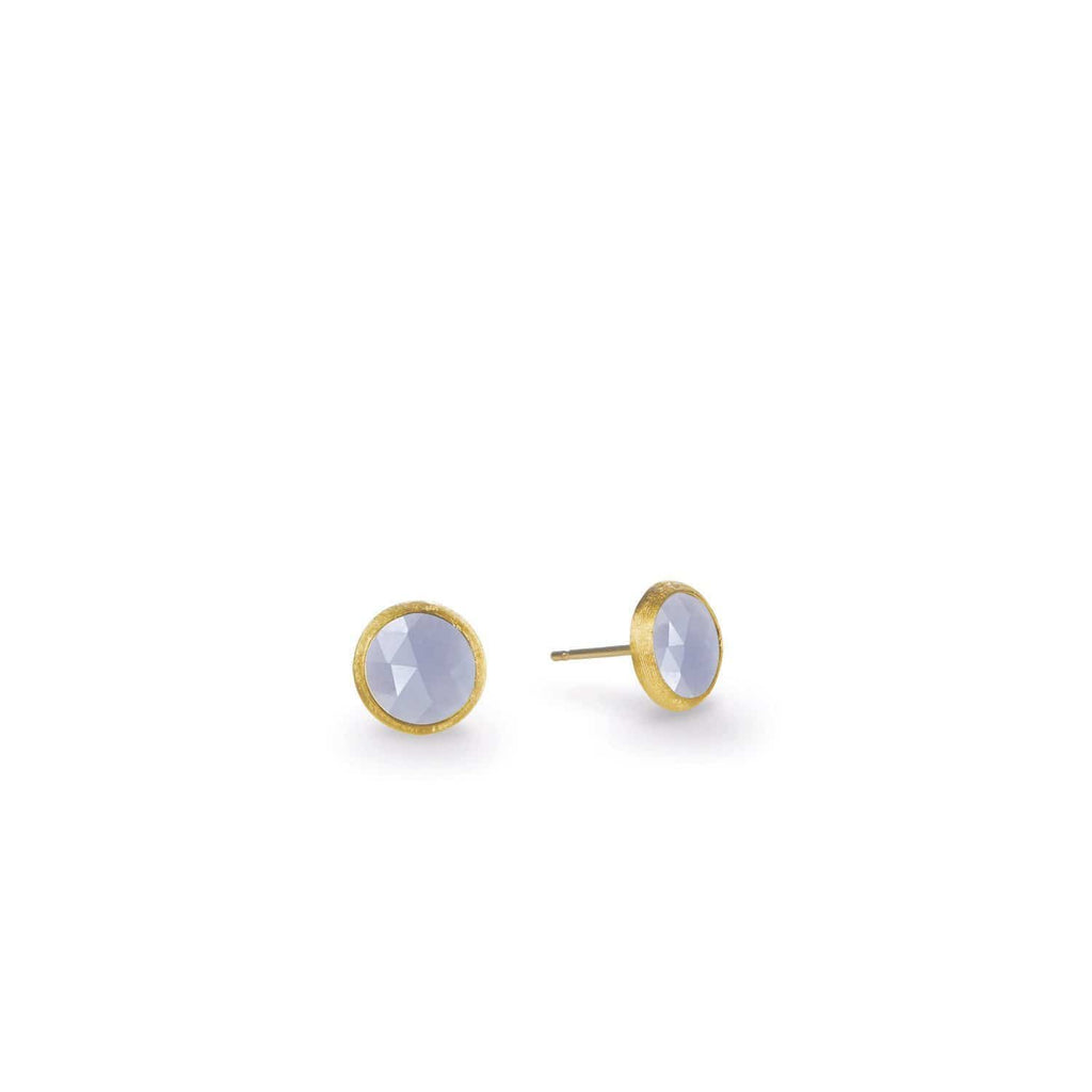 Jaipur Chalcedony Petite Stud Earrings