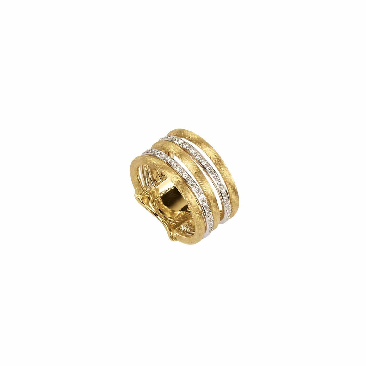 Jaipur Link Gold & Diamond Five Row Ring