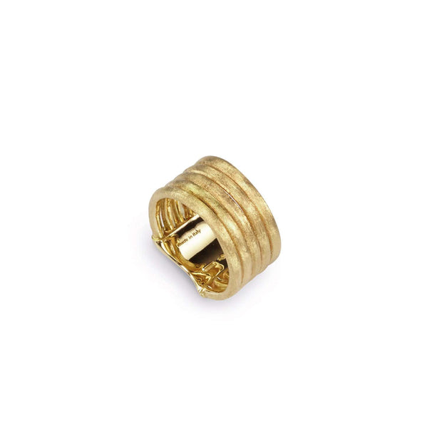 18K Gold Five Row Ring