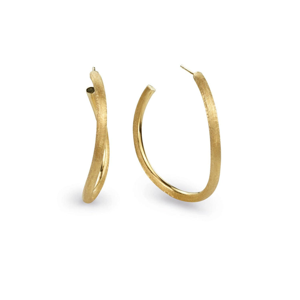Jaipur Link Gold Medium Hoop Earrings