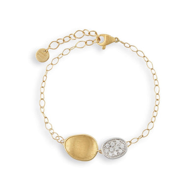 Lunaria Gold & Diamond Pave Chain Bracelet