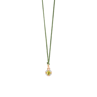 Peridot and Diamond M'Ama Non M'Ama Pendant