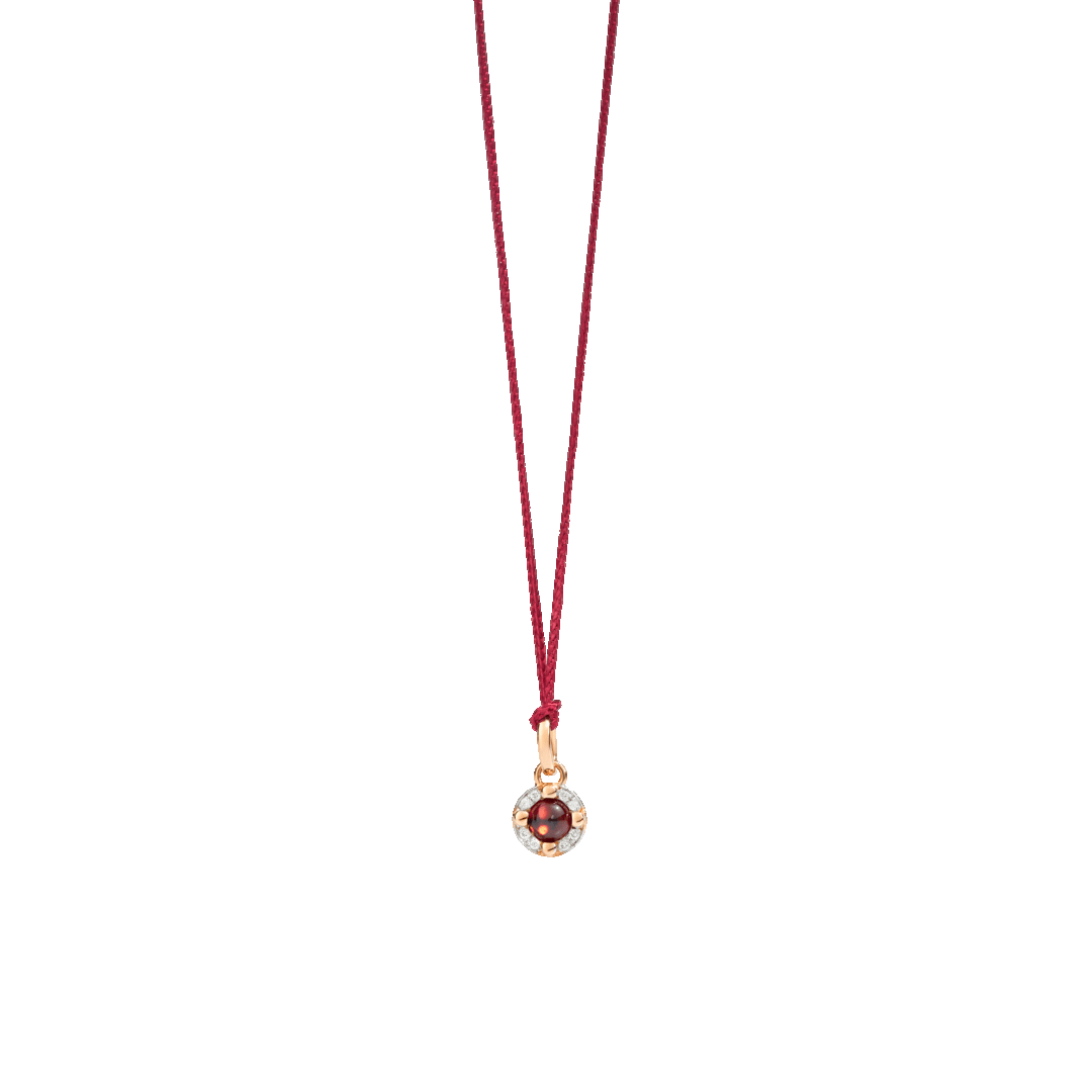Garnet and Diamond M'Ama Non M'Ama Pendant