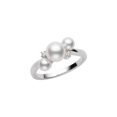 Akoya Pearl and Diamond Japan Collection Ring
