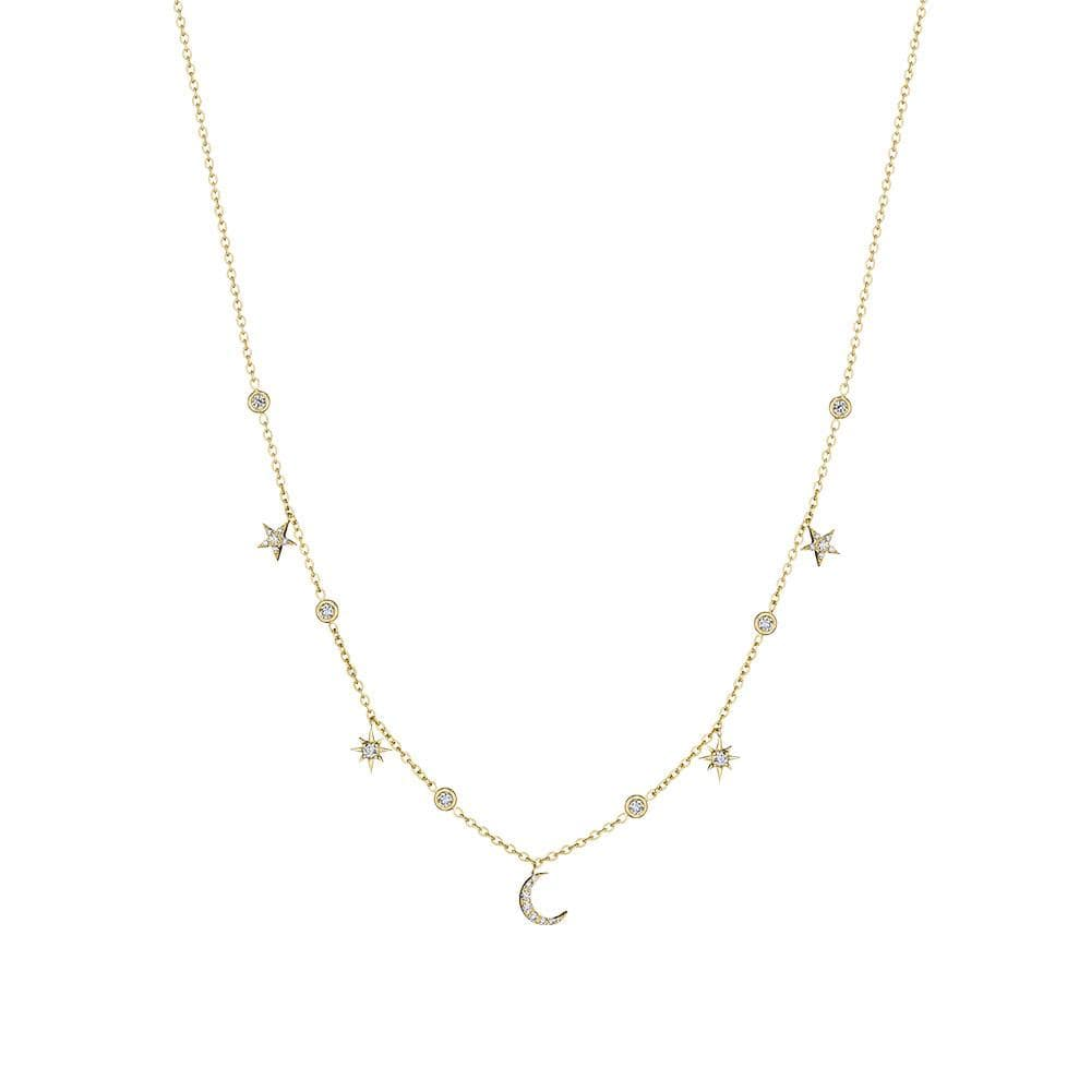 Moon & Star Eyeglass Chain