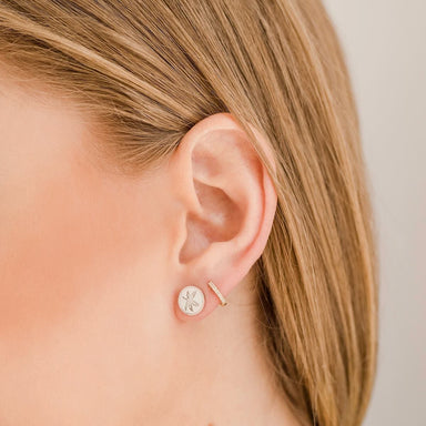 OSU Buckeye Leaf Stud Earrings