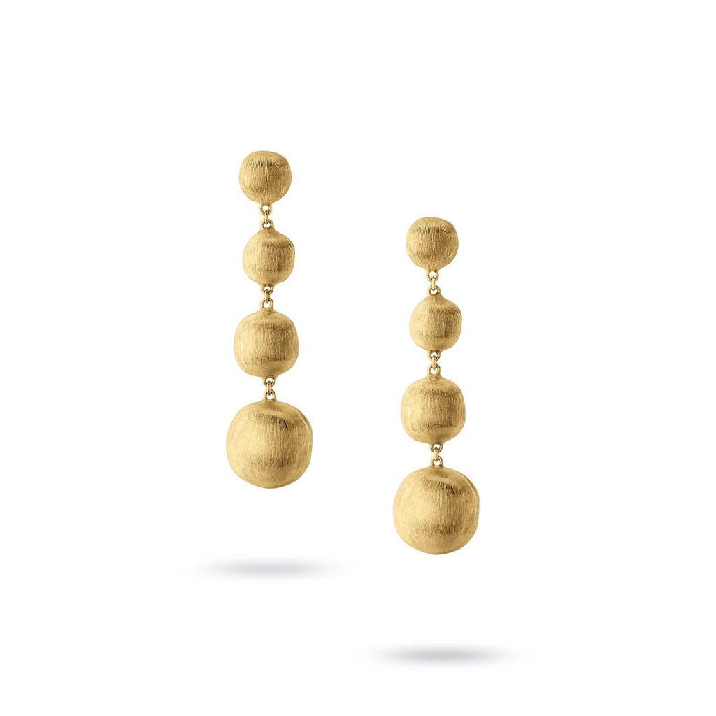 Africa Gold Drop Earrings