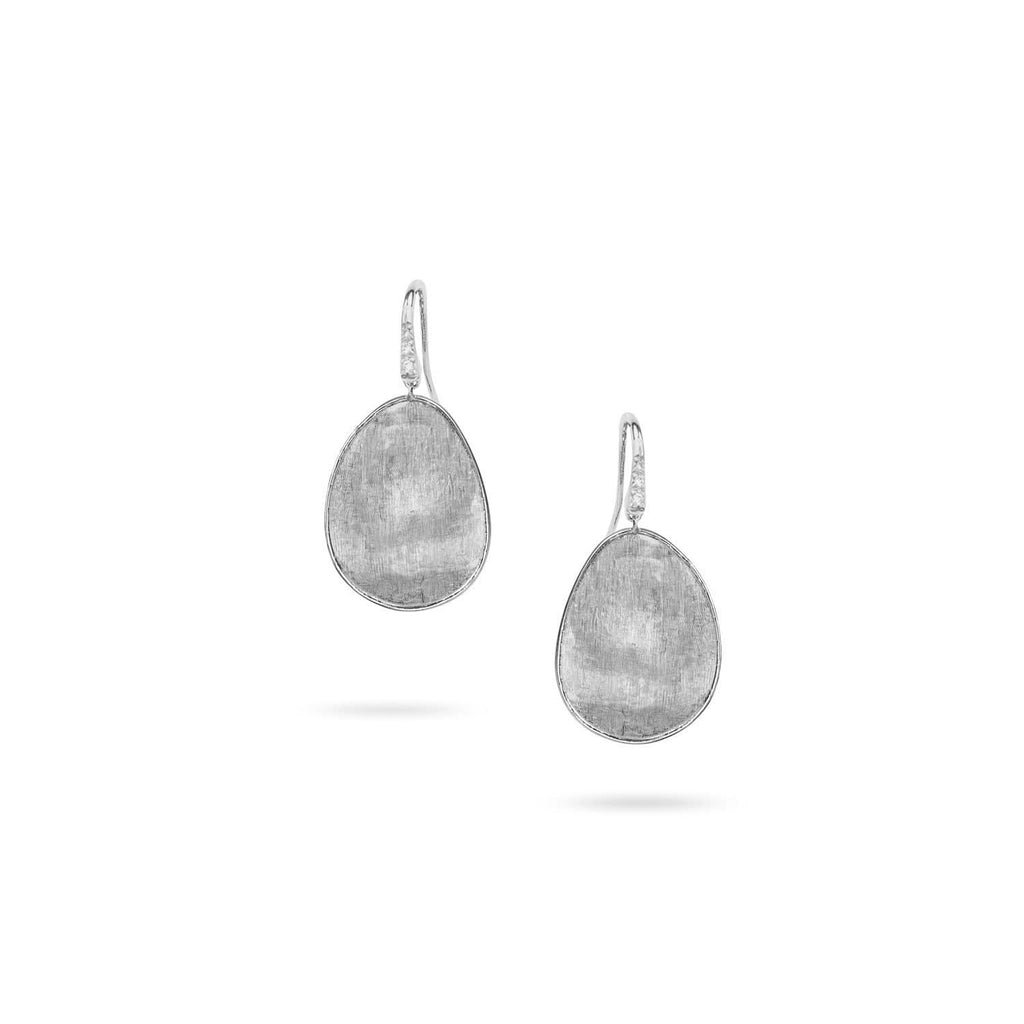 Lunaria White Gold & Diamond Pave Medium Drop Earrings