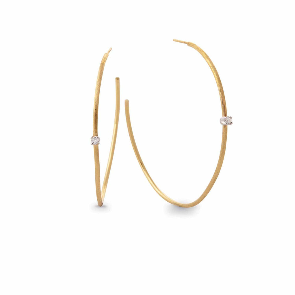 Luce Gold & Diamond Large Hoop Earrings - Exclusive