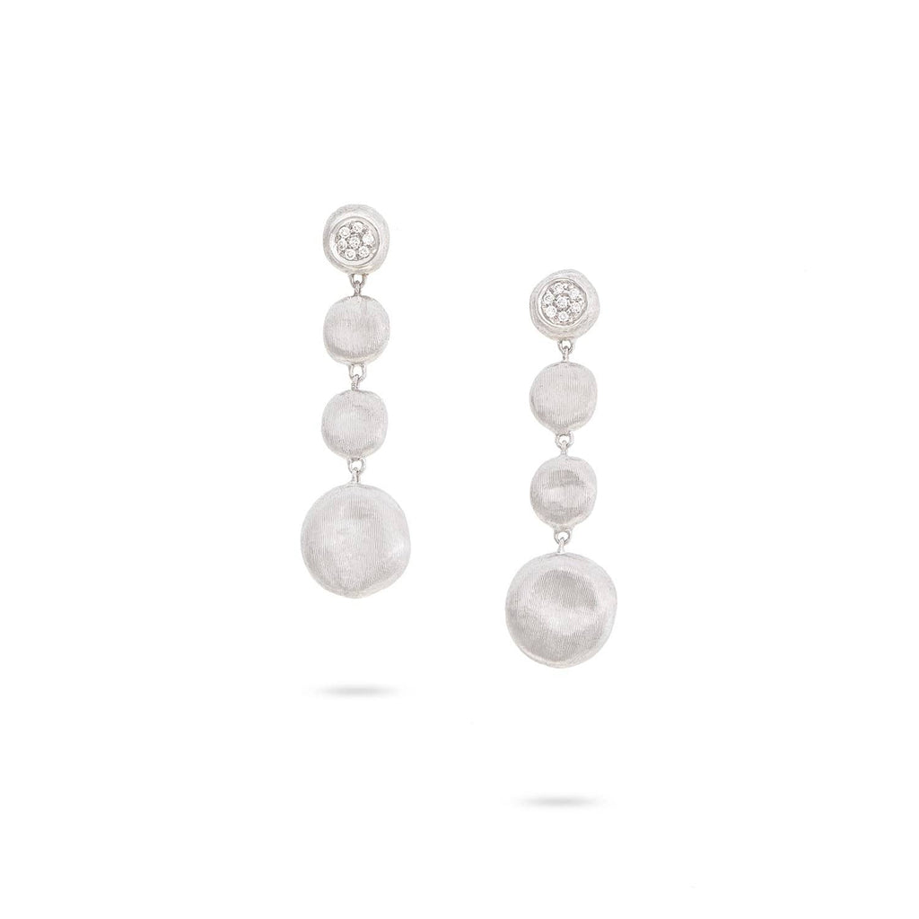 Jaipur Diamond White Drop Earrings