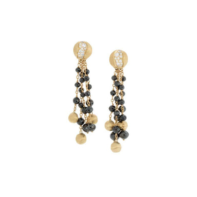 18K Yellow Gold Tassel Earrings