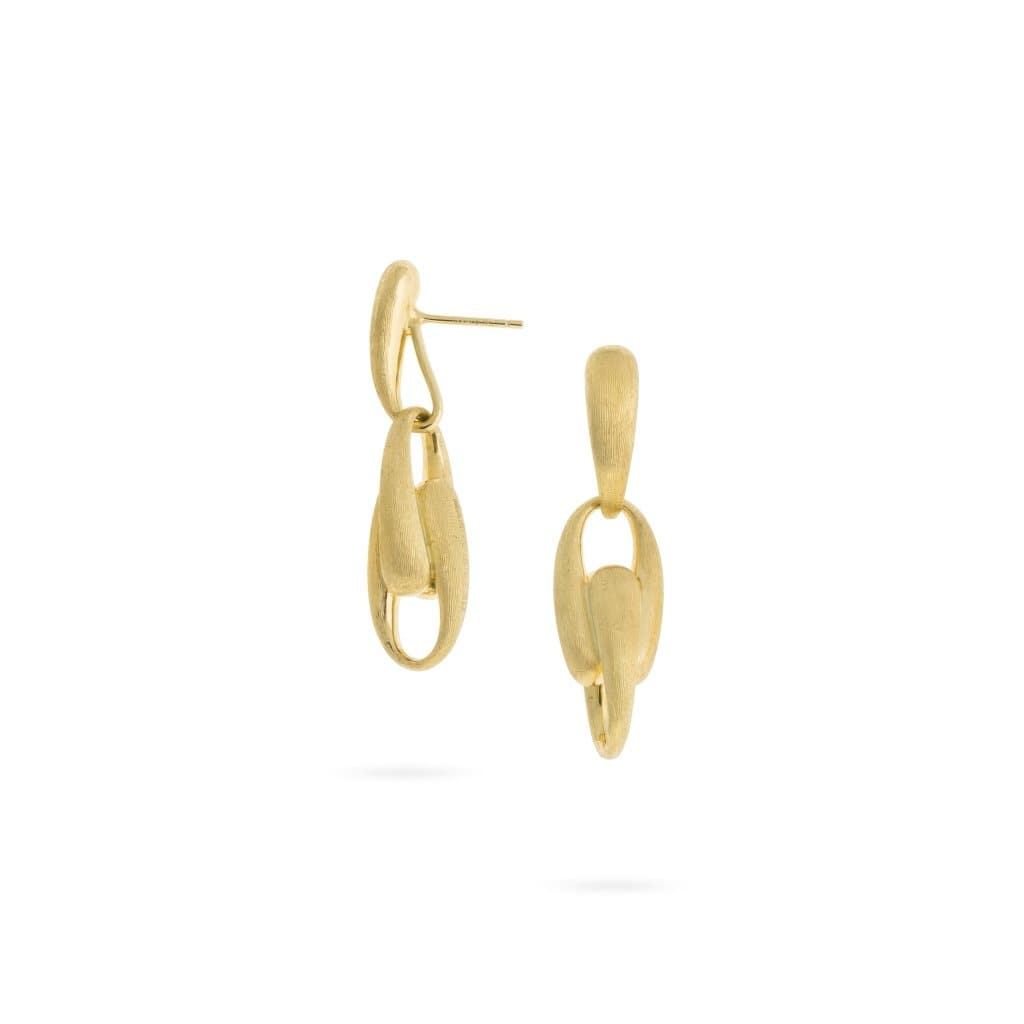 Lucia Yellow Gold Link Drop Earrings