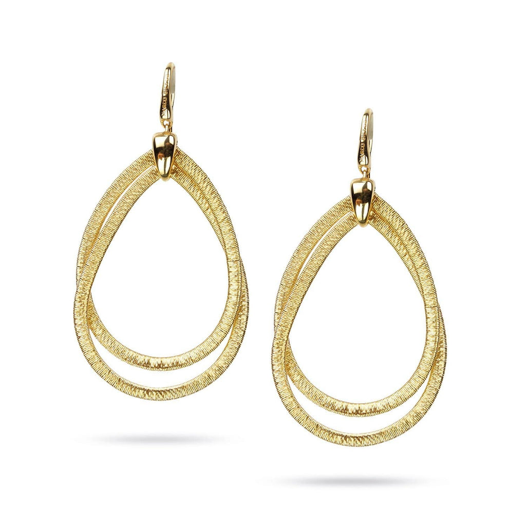 Cairo Yellow Gold Medium Drop Earrings